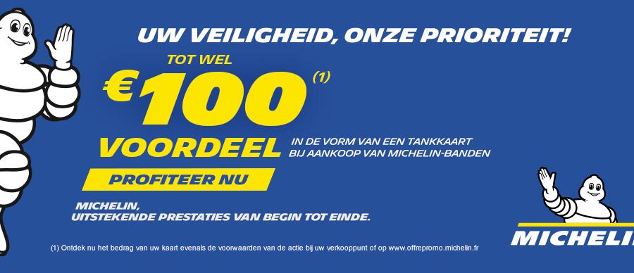Tot 100 euro aan brandstofkaarten cadeau bij aankoop Michelin banden bij Van Essen