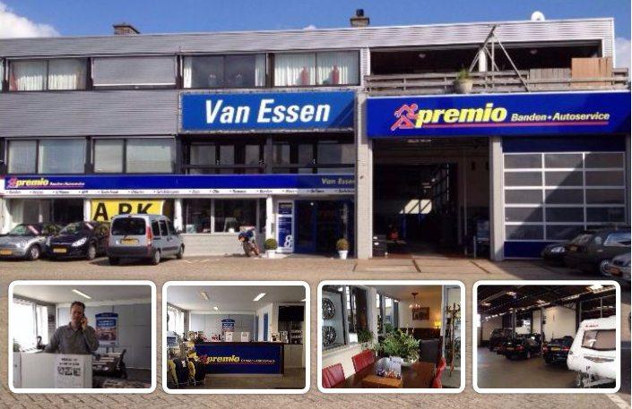 Een collage van de vestiging van Premio Van Essen in Zwolle