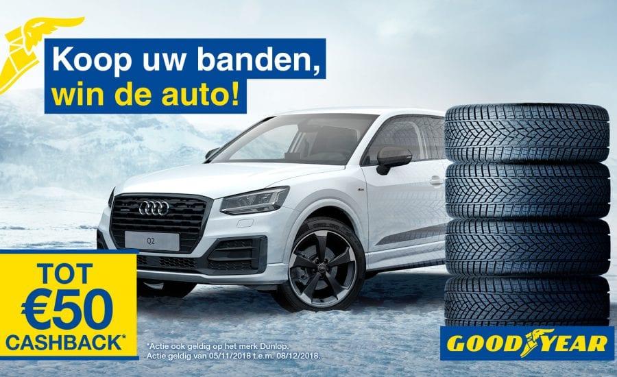 Koop uw Goodyear banden en ontvang tot 50 euro cashback en win een Audi Q2 bij Van Essen