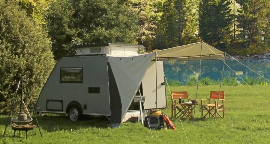 Kip Shelter Caravan Actie