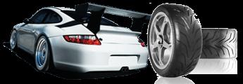 Toyo R888 motorsportbanden met raceauto