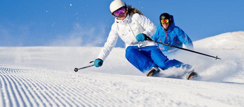 Actie van een wintersport