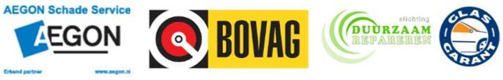 Logo's ruitschade herstel verzekeringsmaatschappijen