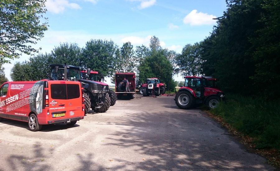 Van Essen voert met mobiele service bandenvervanging uit op 6 tractoren